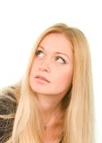 Pretty blond woman Stock Photos