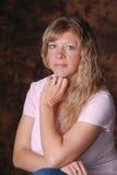 Pretty blond woman. Royalty Free Stock Image