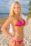 Pretty Blond Woman Bikini royalty free stock image
