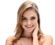 Pretty blond woman. Close-up of a pretty blond woman Royalty Free Stock Photo