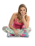 Pretty blond woman. With fitness clothes Stock Image