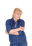 Pretty blond woman portrait. stock photos