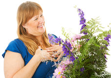The Gift of Flowers Royalty Free Stock Images
