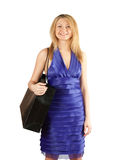 Pretty blond woman  shopping Stock Photos