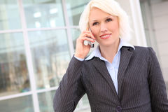 Pretty Blonde Business Woman Stock Images