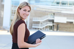Pretty Blonde Business Woman Royalty Free Stock Photography