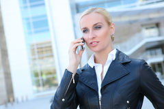 Pretty Blonde Business Woman Royalty Free Stock Photos