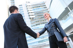 Pretty Blonde Business Woman Stock Photography