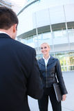 Pretty Blonde Business Woman Stock Photo