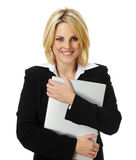 Pretty blonde business woman Stock Image