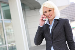 Pretty Blonde Business Woman on Phone Royalty Free Stock Photo