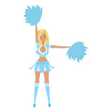 Pretty Blonde Cheerleader Stock Image