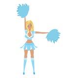 Pretty Blonde Cheerleader Stock Image