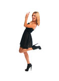 Pretty Blonde Dancing Girl Stock Photo