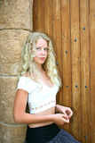 Pretty blonde girl royalty free stock photography