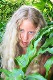 Pretty blonde girl stock photos