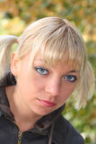 Pretty  blonde girl. Portrait of the pretty blonde girl Royalty Free Stock Photos