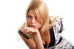 Pretty blonde girl Stock Image