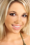 Pretty Blonde Girl. Beautiful young blond woman close-up Royalty Free Stock Images