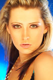 Pretty Blonde Girl. Portrait of beautiful young woman royalty free stock photo