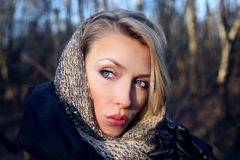 Pretty blonde girl posing. Royalty Free Stock Photo