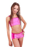 Pretty blonde girl in swimming suit Royalty Free Stock Photography
