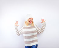 Pretty blonde girl - wintertime Stock Photography