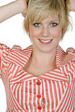 Pretty Blonde Haired Girl Smiling Stock Image