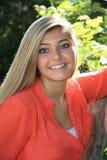 Pretty Blonde High School Senior Girl Outdoor Stock Images
