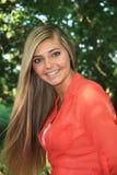 Pretty Blonde High School Senior Girl Outdoor Stock Image