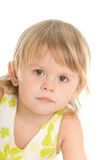Pretty blonde little girl Royalty Free Stock Photography