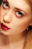 Pretty blonde with luscious lips Royalty Free Stock Photo