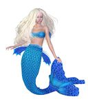 Pretty Blonde Mermaid. 3D Digital render of a pretty blonde mermaid Royalty Free Stock Image