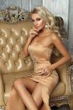 Pretty blonde in mermaid dress Royalty Free Stock Photo