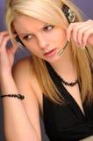Pretty Blonde Operator Stock Image