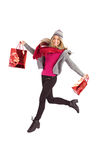 Pretty blonde posing in winter clothes Royalty Free Stock Image