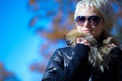 Pretty blonde in sunglasses Royalty Free Stock Image
