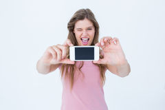 Pretty blonde taking a selfie of herself Royalty Free Stock Photos
