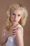 Pretty Blonde Teenage Model Stock Photos