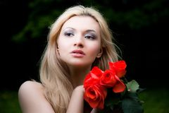 Pretty Blonde Woman Stock Images