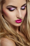 Pretty blonde woman with closed eyes Royalty Free Stock Photography