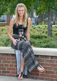 Pretty blonde woman with her pet Chihuahua Royalty Free Stock Image