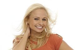 Pretty blonde woman smiling Royalty Free Stock Photo