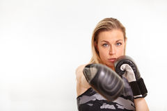 Pretty blonde woman working out Royalty Free Stock Photos
