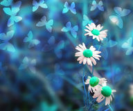Blue Abstract Spring Background Stock Image
