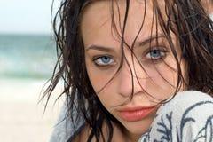 Pretty blue-eyed woman Royalty Free Stock Photos