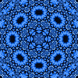 Pretty blue floral mandala Stock Image