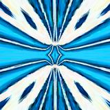 Pretty blue rays mandala, kaleidoscope fresh colors royalty free stock photos