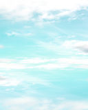 Pretty Blue sky with clouds Stock Photography