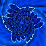 Pretty blue spiral. Abstract fractal image of a pretty blue spiral Stock Photo
